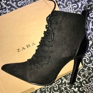 Zara ankle lace boots